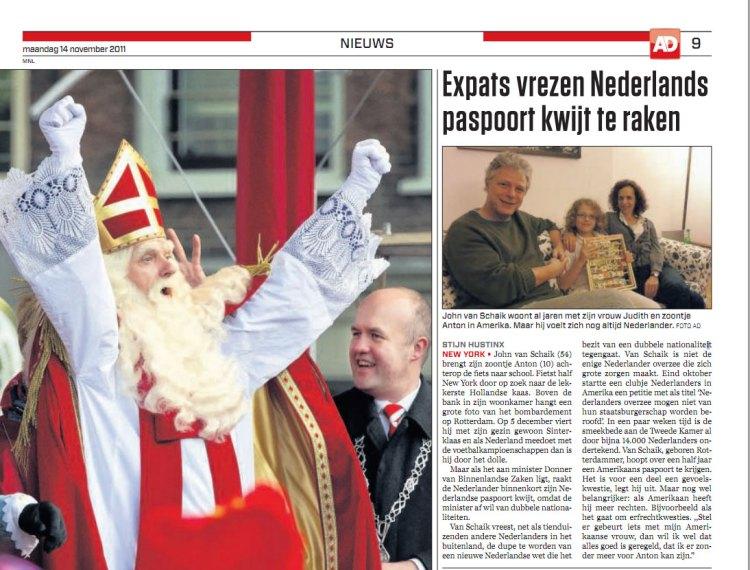 Expats vrezen Nederlands paspoort kwijt te raken (AD)