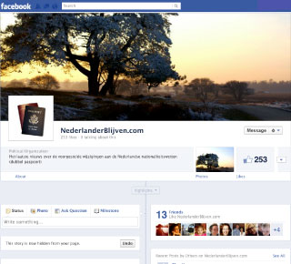 Nederlander Blijven op Facebook